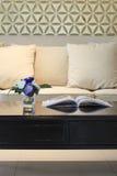 Decorazione interna della casa del sofà del salone Fotografia Stock