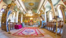 Decorazione interna della chiesa di San Nicola nel villaggio di Zheravna in Bulgaria Immagini Stock