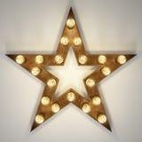 Decorazione leggera a forma di stella Fotografia Stock
