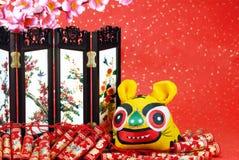 Decorazione lunare cinese di nuovo anno. Fotografia Stock Libera da Diritti