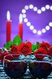 Decorazione lunatica per il concetto di giorno del ` s del biglietto di S. Valentino Immagini Stock