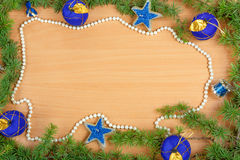 Decorazione meravigliosa di Natale con l'albero di abete Fotografia Stock