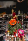 Decorazione messicana di stile in un ristorante immagini stock libere da diritti