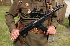 Decorazione militare sovietica sull'uniforme Immagini Stock