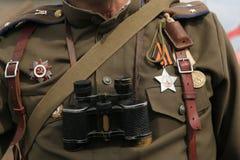 Decorazione militare sovietica sull'uniforme Immagini Stock Libere da Diritti