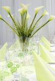 Decorazione moderna della tabella di cerimonia nuziale Fotografia Stock Libera da Diritti