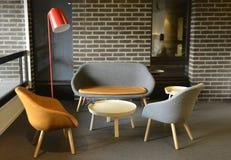 Decorazione moderna interna della mobilia Fotografia Stock Libera da Diritti