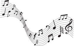Decorazione musicale della nota del segno immagine stock