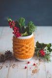 Decorazione naturale per il Natale Fotografie Stock
