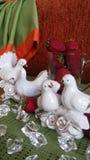 Decorazione nella casa regalo di giorno di biglietti di S. Valentino della decorazione di natale fotografia stock