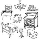 Decorazione provance1 della mobilia Immagini Stock