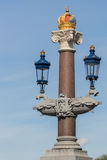Decorazione reale a Blauwbrug a Amsterdam Fotografie Stock