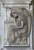 Decorazione religiosa di marmo di angolo Fotografia Stock