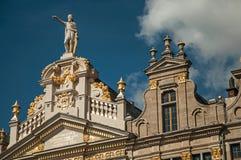 Decorazione ricca su monumento storico a Bruxelles immagine stock libera da diritti