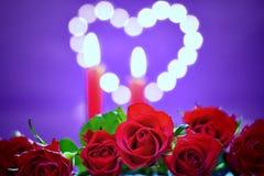 Decorazione romantica per il concetto di giorno del ` s del biglietto di S. Valentino Fotografie Stock