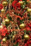 Decorazione rossa dell'albero di Natale Fotografia Stock