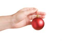 Decorazione rossa dell'albero di Natale Fotografie Stock
