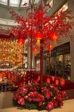 Decorazione rossa della lanterna Fotografie Stock