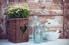 Decorazione rustica domestica accogliente Fotografie Stock Libere da Diritti