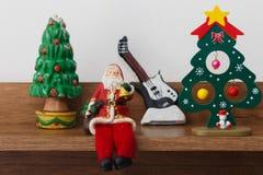 Decorazione Santa Claus dell'albero di Natale Immagine Stock