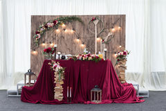 Decorazione sbalorditiva di nozze fotografie stock