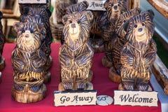 Decorazione scolpita dell'orso Immagini Stock