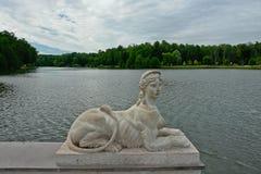 Decorazione scultorea nel Tsaritsyno reale. Fotografie Stock