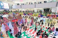 Decorazione Snoopy di Natale APM in Hong Kong Fotografie Stock Libere da Diritti