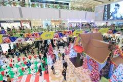 Decorazione Snoopy di Natale APM in Hong Kong Fotografia Stock