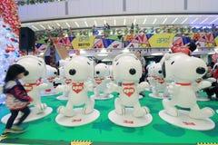 Decorazione Snoopy di natale di APM in Hong Kong Immagini Stock Libere da Diritti