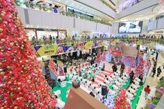 Decorazione Snoopy di natale di APM in Hong Kong Fotografia Stock Libera da Diritti