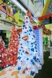 Decorazione Snoopy di natale di APM in Hong Kong Fotografie Stock Libere da Diritti