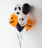 Decorazione spaventosa degli aerostati per il partito di Halloween Fotografia Stock Libera da Diritti
