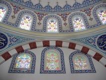 Decorazione sulle pareti all'interno di una moschea Fotografia Stock Libera da Diritti