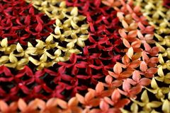 Decorazione tailandese del fiore Fotografia Stock