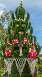 Decorazione tailandese del fiore di stile Fotografie Stock Libere da Diritti
