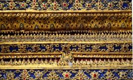 Decorazione tailandese del tempio della parete fotografia stock libera da diritti