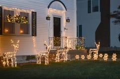 Decorazione tradizionale dei cristmass a Boston, U.S.A. l'11 dicembre 2016 Fotografie Stock