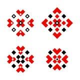 Decorazione tradizionale dell'ornamento geometrico dello slavo illustrazione di stock