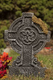 Decorazione trasversale della pietra della tomba fotografia stock libera da diritti