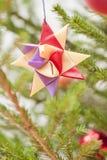 Decorazione in un albero di Natale Immagini Stock