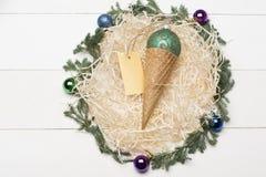 Decorazione variopinta del nuovo anno o di Natale Fotografia Stock Libera da Diritti