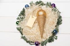 Decorazione variopinta del nuovo anno o di Natale Immagine Stock Libera da Diritti