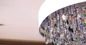 Decorazione variopinta di illuminazione, Crystal Chandelier stock footage