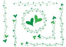 Decorazione verde del cuore Fotografia Stock Libera da Diritti