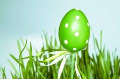 Decorazione verde dell'uovo di Pasqua Immagine Stock Libera da Diritti