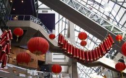 Decorazioni cinesi del centro commerciale dell'nuovo anno Immagini Stock