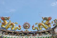 Decorazioni cinesi del tempiale Fotografia Stock Libera da Diritti