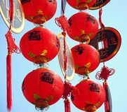 Decorazioni cinesi di nuovo anno Fotografia Stock Libera da Diritti