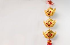 Decorazioni cinesi ed attaccatura del nuovo anno Fotografia Stock